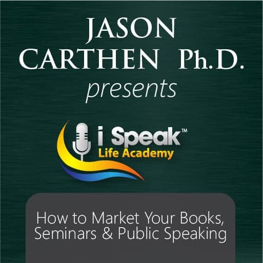 Dr. Jason Carthen Shares how to Market Your Books and Products.