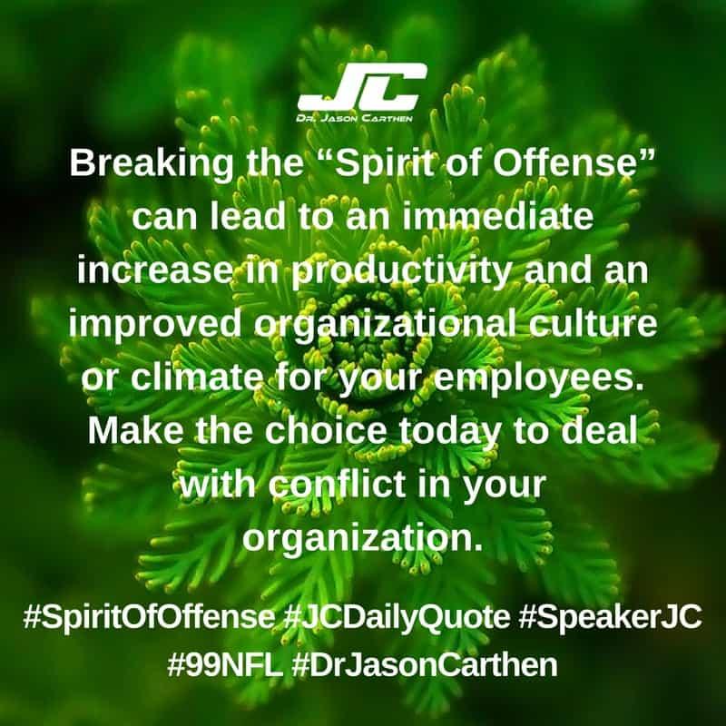 Dr. Jason Carthen: Spirit of Offense