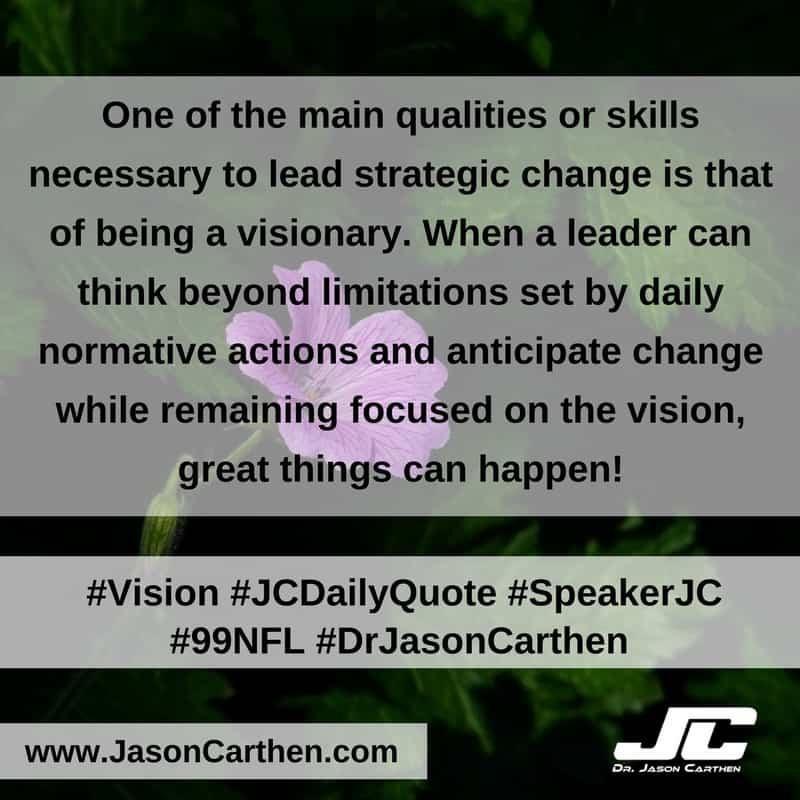 Dr. Jason Carthen: Strategic Vision