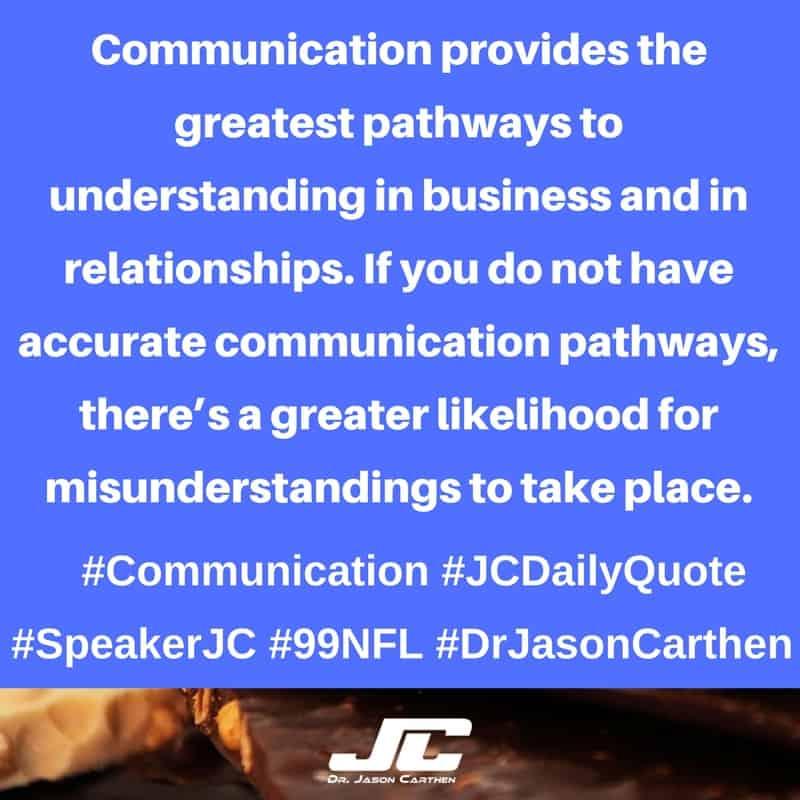 Dr. Jason Carthen: Communication