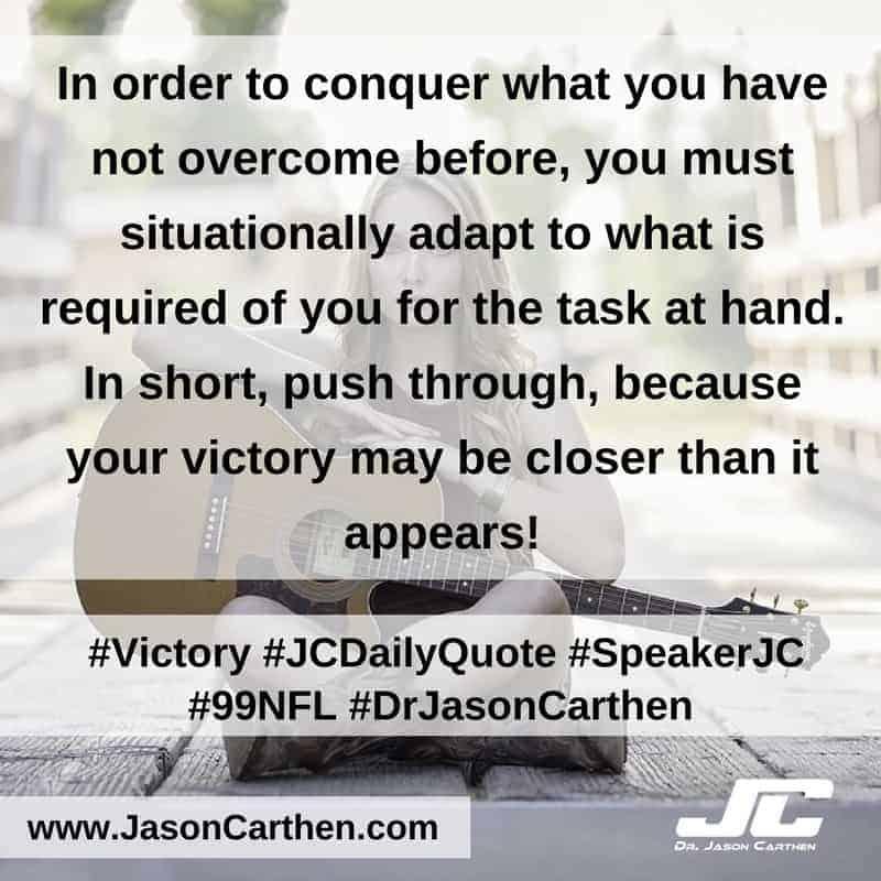 Dr. Jason Carthen: Victory
