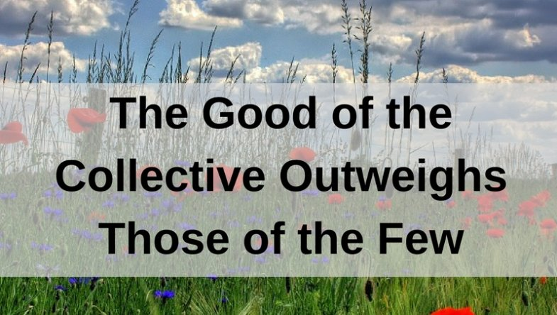 Dr. Jason Carthen: The Good of the Collective Outweighs