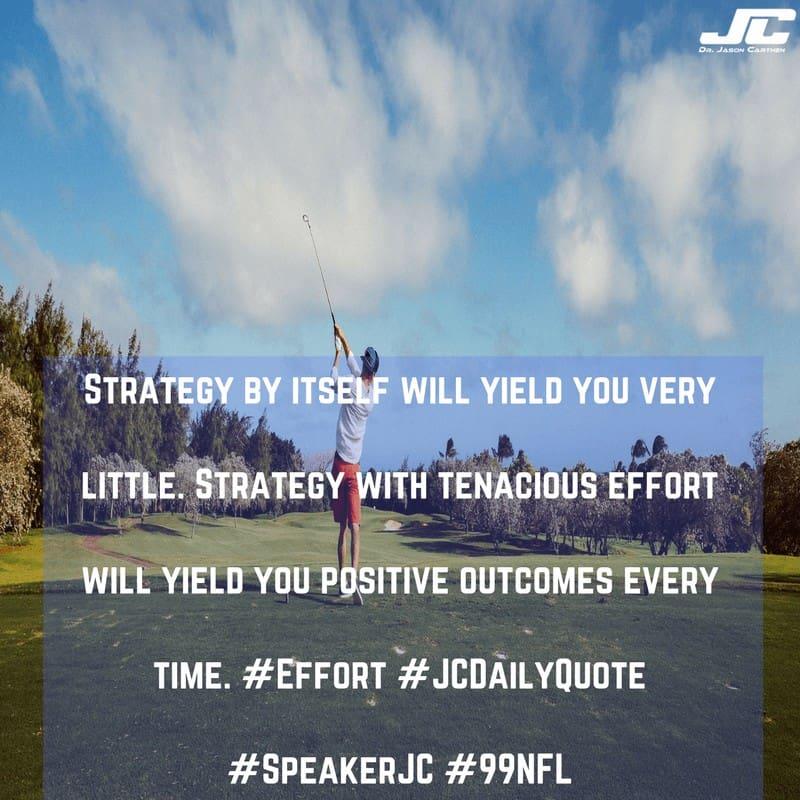 Dr. Jason Carthen: Strategy