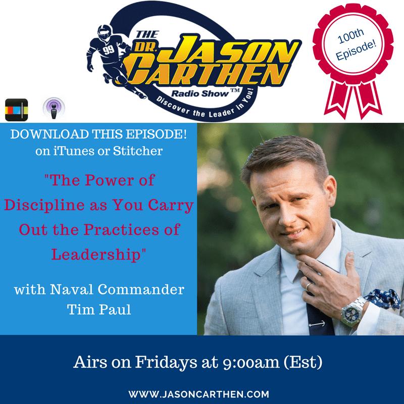 Dr.Jason Carthen: Discipline with Tim Paul